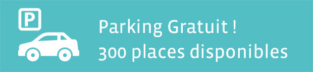 parking gratuit 300 places diponibles